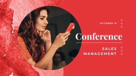 Template di design Sales Management Conference Announcement FB event cover