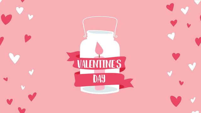 Plantilla de diseño de Candle in jar for Valentine's Day Full HD video