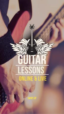Designvorlage Guitar Lessons Offer für Instagram Story