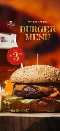 burger menu Snapchat Moment Filter – шаблон для дизайну