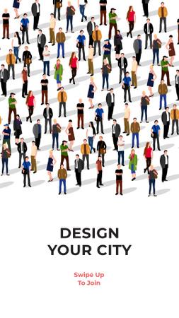 Plantilla de diseño de Urban Design Society Ad Instagram Story
