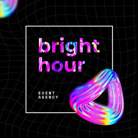 Template di design Event Agency Bright Ad Logo