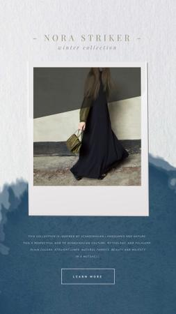 Plantilla de diseño de Clothes Ad with Woman in Stylish Outfit Instagram Video Story