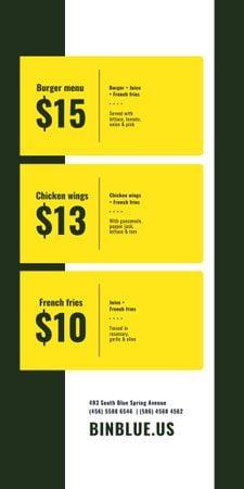 Template di design Fast Food menu Offer Graphic