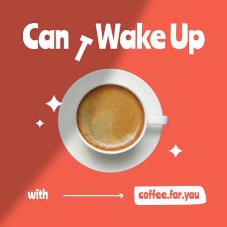 Ontwerpsjabloon van Instagram van Coffee House Promotion with Hot Drink