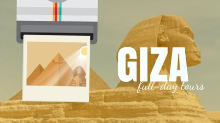 Plantilla de diseño de Giza Pyramids and Sphinx Full HD video