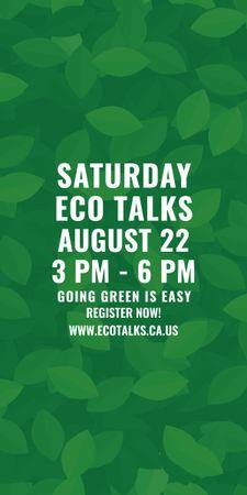 Ecological Event Announcement Green Leaves Texture Graphic Tasarım Şablonu