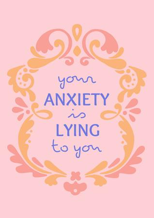 Modèle de visuel Mental Health Inspirational Citation - Poster