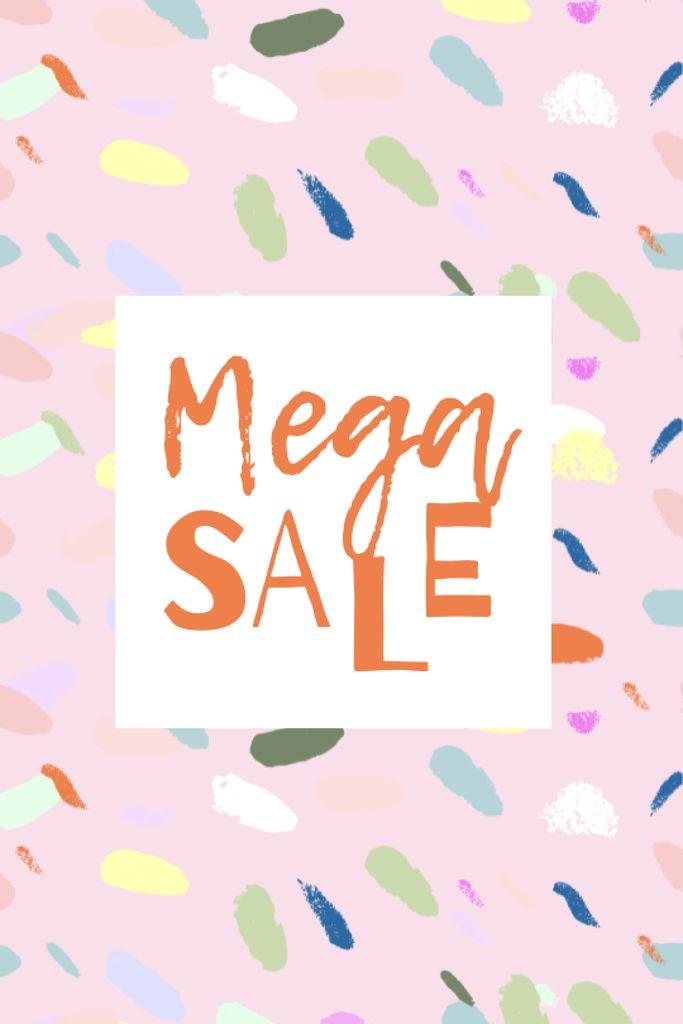 Platilla de diseño Sale announcement on colorful pattern Tumblr
