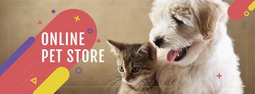 Pet Store ad with Cute animals
