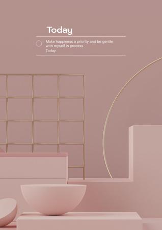 Plantilla de diseño de Mental Health Inspiration with Woman in Bed Poster