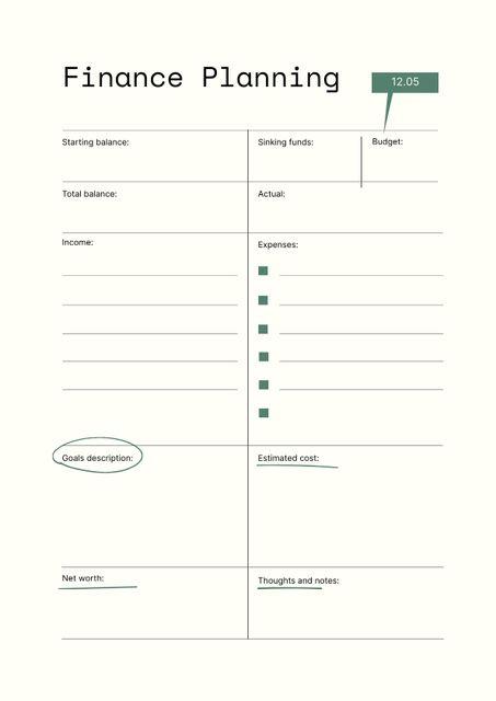 Finance Planning balance tracker Schedule Planner – шаблон для дизайна