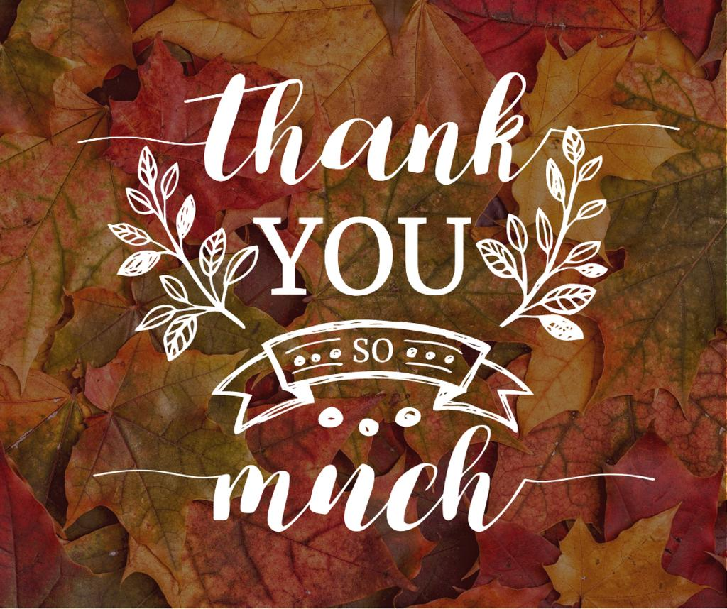 Thanksgiving Day autumn leaves — Crear un diseño