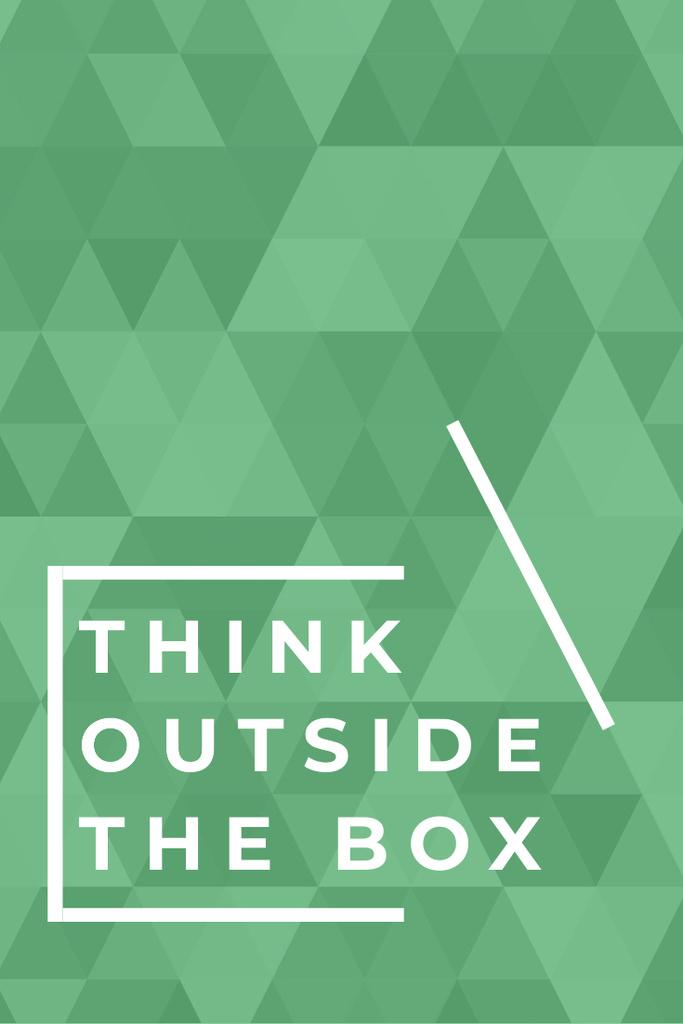 Think outside the box citation — Crear un diseño