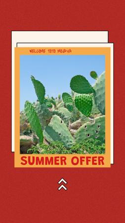 Modèle de visuel Summer Travel Offer with Cacti in Desert - Instagram Story