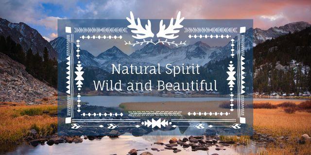 Natural spirit with Scenic Landscape Image Design Template