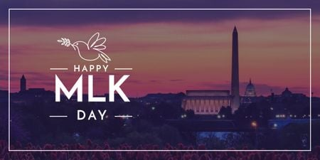Martin Luther King Day Greeting with Washington Image – шаблон для дизайну