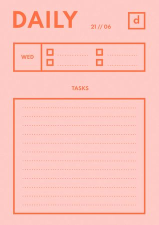 Designvorlage Daily Tasks Planner für Schedule Planner