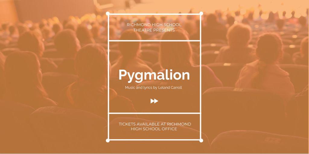 Pygmalion performance in Richmond High Theater — ein Design erstellen