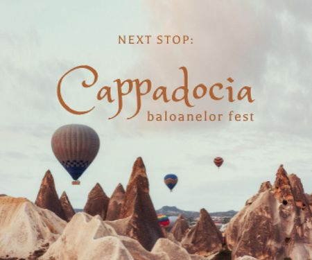 Turkey Travel Inspiration with Air Balloons Large Rectangle – шаблон для дизайну