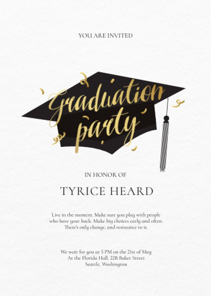 Graduation Party Celebration Announcement Invitation – шаблон для дизайна