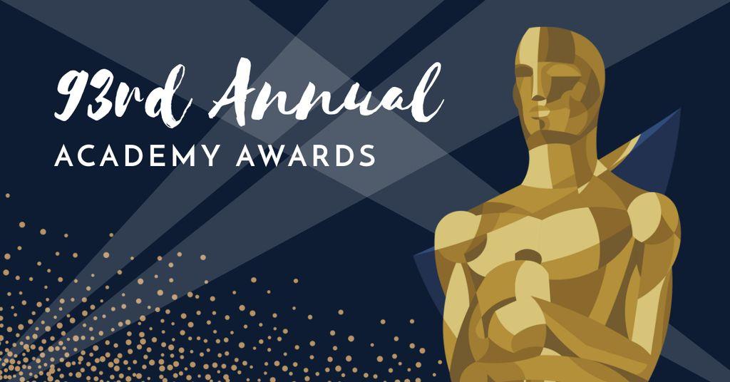 Annual Academy Awards announcement Facebook AD Modelo de Design