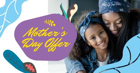Plantilla de diseño de Mother's Day Offer with Mother hugging Child Facebook AD