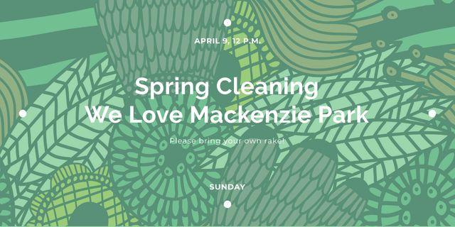 Spring cleaning in Mackenzie park Image Modelo de Design