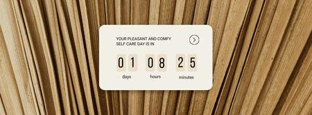 Plantilla de diseño de Self care Day Countdown Facebook cover