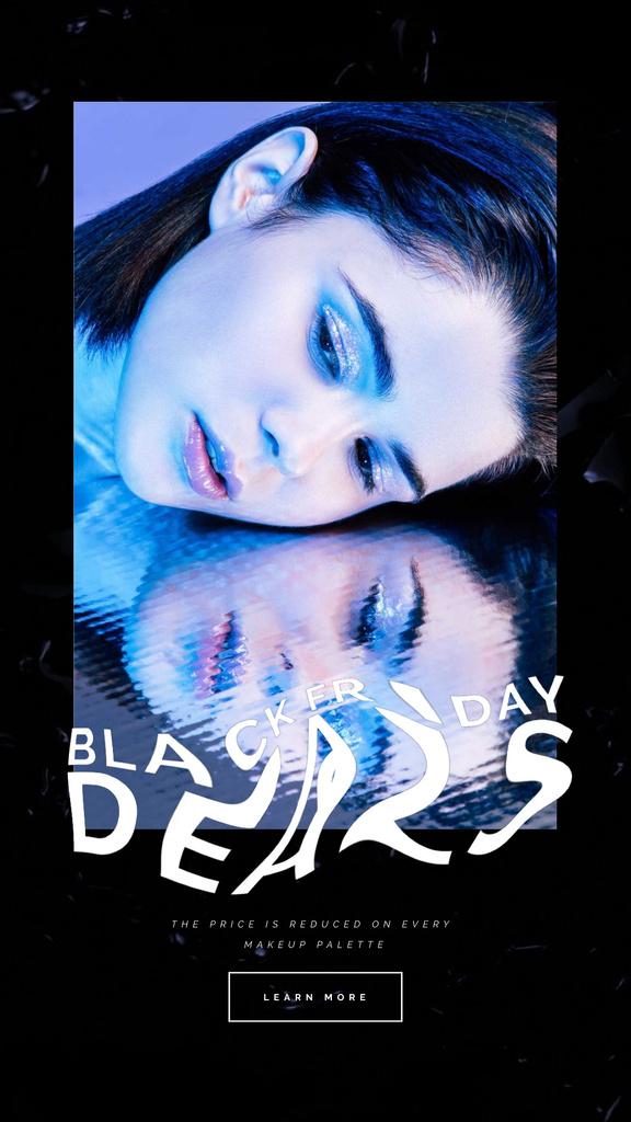 Black Friday Sale with Woman in Neon Light — Créer un visuel