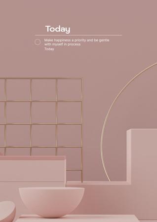Designvorlage Mental Health Inspiration with Woman in Bed für Poster