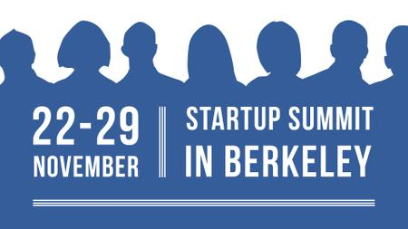 Startup Summit Announcement Businesspeople Silhouettes FB event cover Modelo de Design