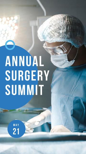 Szablon projektu Annual Surgery Summit Announcement Instagram Story