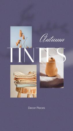Autumn Inspiration with Decorative Pumpkin Instagram Story Modelo de Design