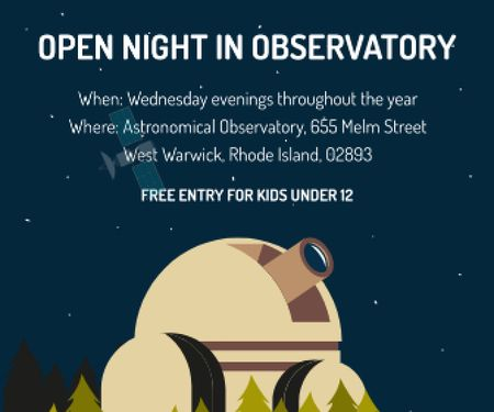 Open night in Observatory Large Rectangle – шаблон для дизайна