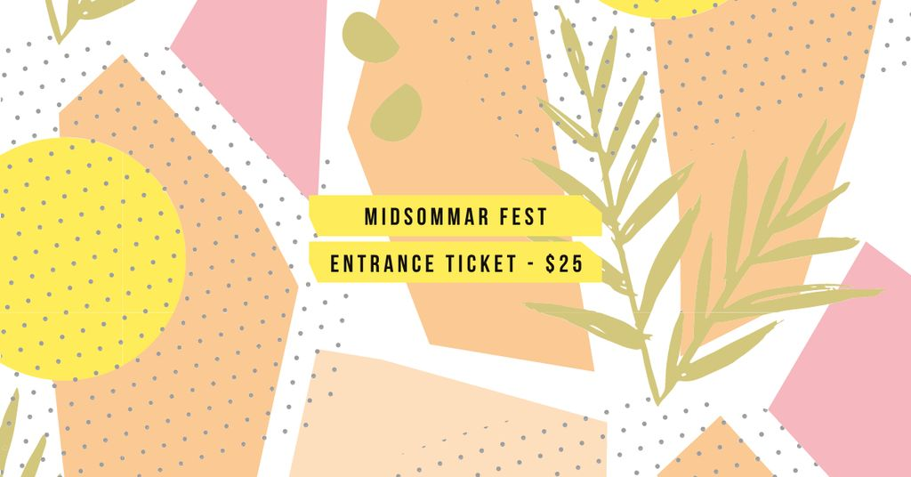 Midsommar Fest Tickets Offer — Створити дизайн