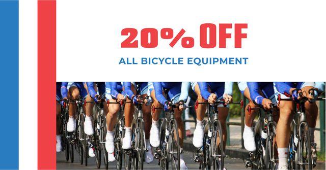 Modèle de visuel Tour de France with Bicycle Equipment Offer - Facebook AD