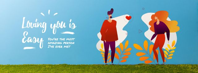 Template di design Loving Couple sending Heart on Valentine's Day Facebook Video cover