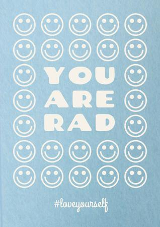 Plantilla de diseño de Mental Health Inspiration with Smiley Emoji Poster
