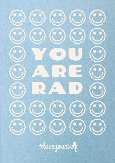 Plantilla de diseño de Mental Health Inspiration with Smiley Emoji Poster