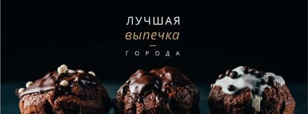Pastry Offer with Sweet chocolate cakes Facebook cover – шаблон для дизайна