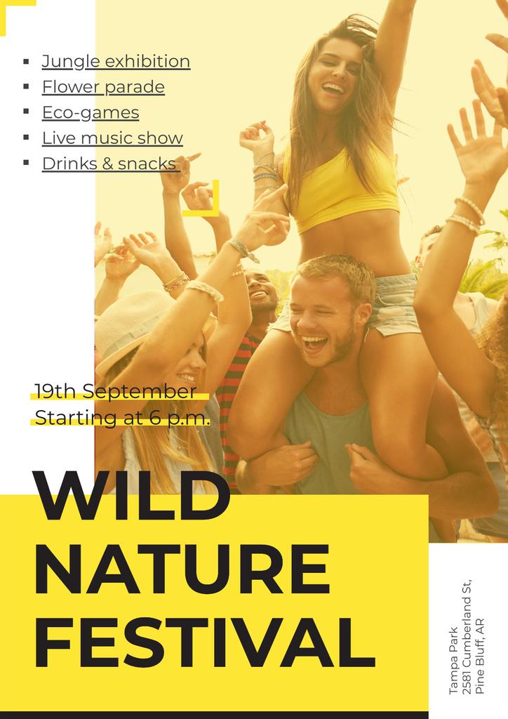 Modèle de visuel Wild nature festival - Poster