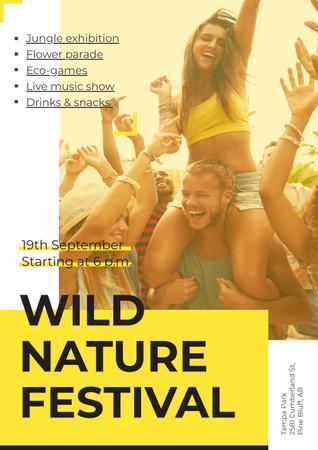 Wild nature festival Poster Modelo de Design