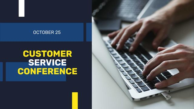Customer Service Conference Announcement FB event cover – шаблон для дизайну