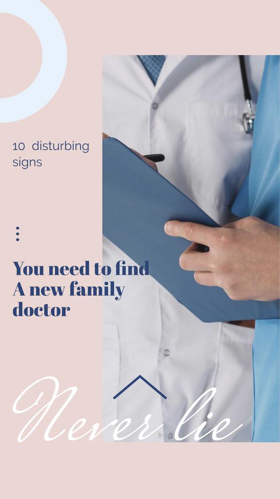 Plantilla de diseño de Team of Professional Doctors Instagram Story