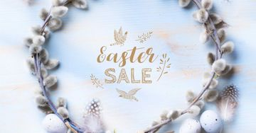 Easter Sale in Willow Wreath