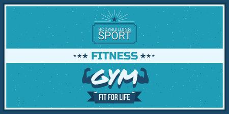 Ontwerpsjabloon van Twitter van Fitness gym advertisement