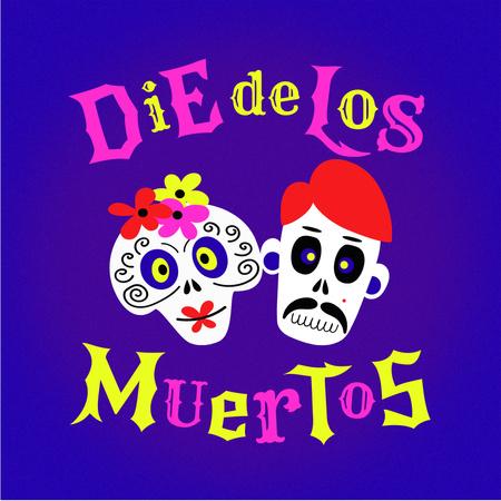 Dia de los Muertos Celebration with Funny Skulls Instagram – шаблон для дизайну