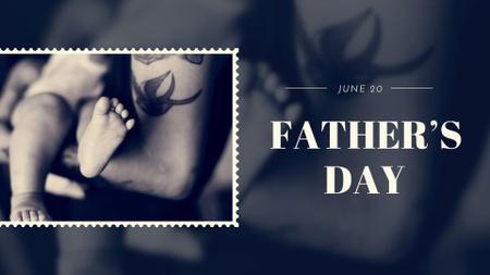 Plantilla de diseño de Father's Day with Parent holding Child FB event cover