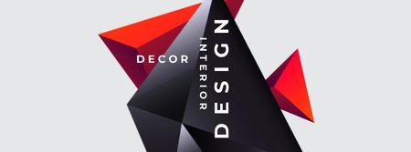 Template di design Decor store ad on Digital Elements Facebook cover